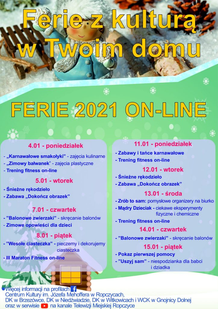 Ferie 2021 ON-LINE