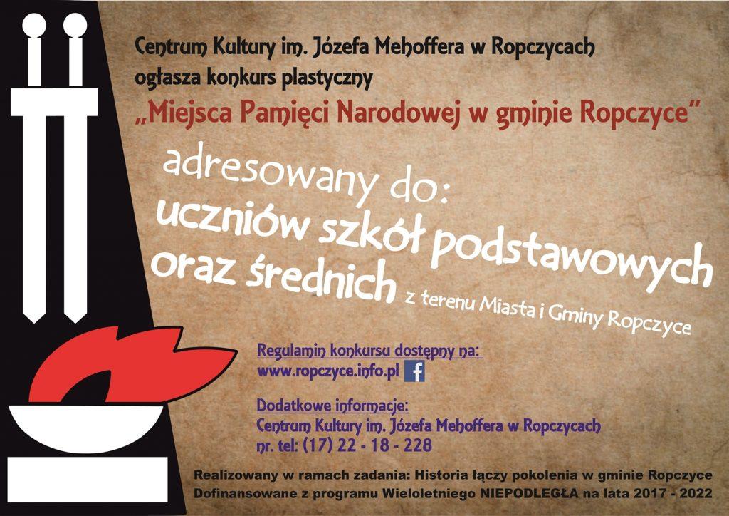 """""""Miejsca Pamięci Narodowej w gminie Ropczyce"""""""