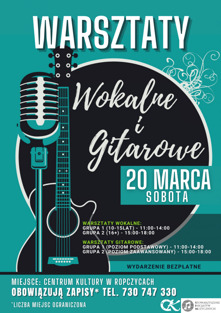 Warsztaty Wokalne i Gitarowe