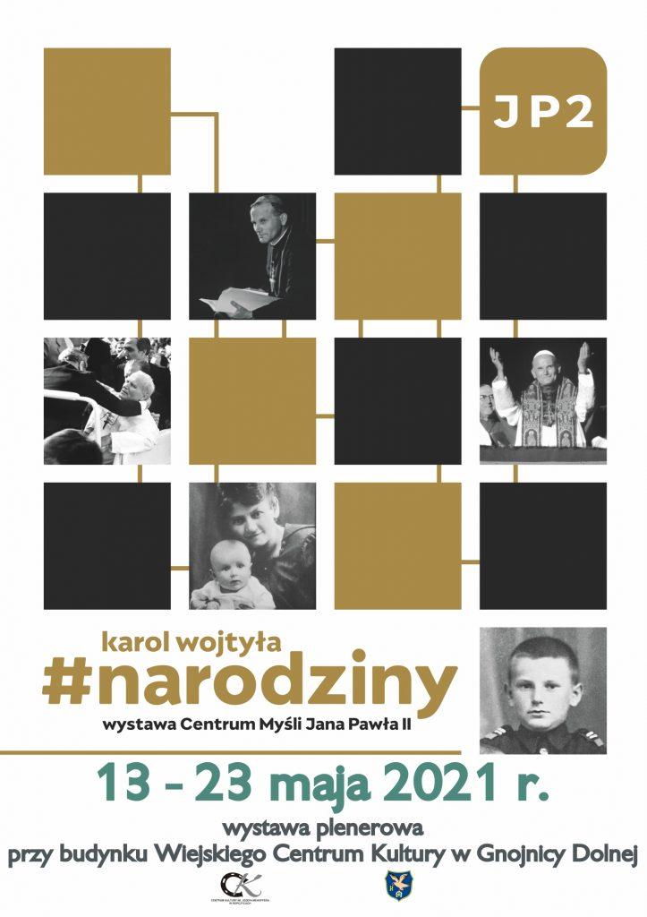 """Wystawa plenerowa pod tytułem """"Karol Wojtyła #narodziny"""""""