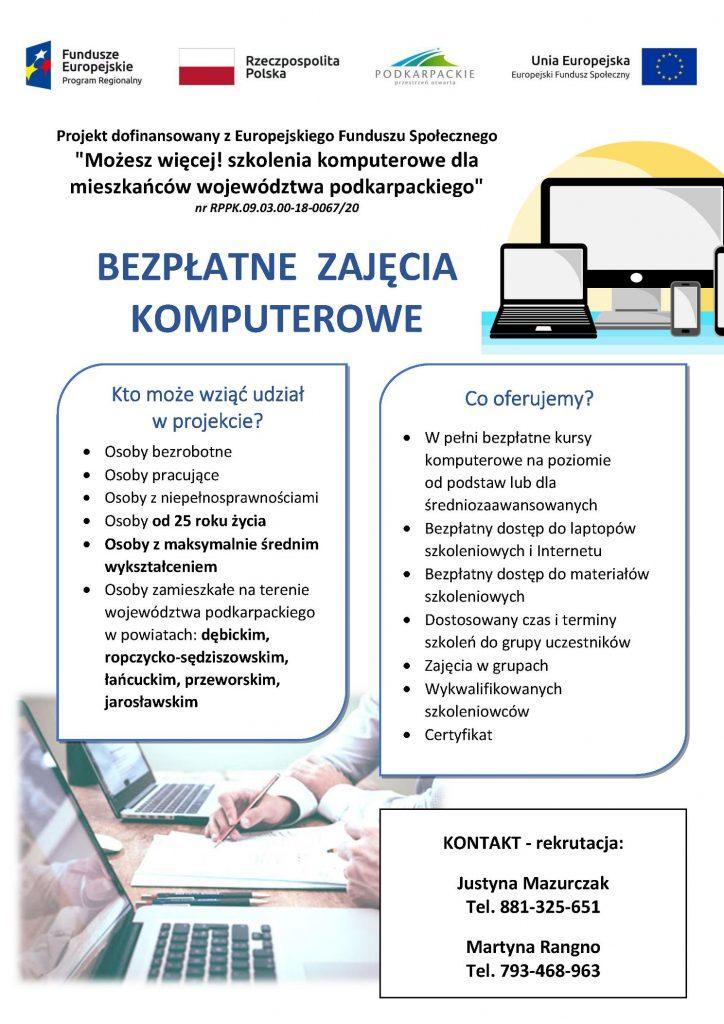 Bezpłatne Zajęcia Komputerowe
