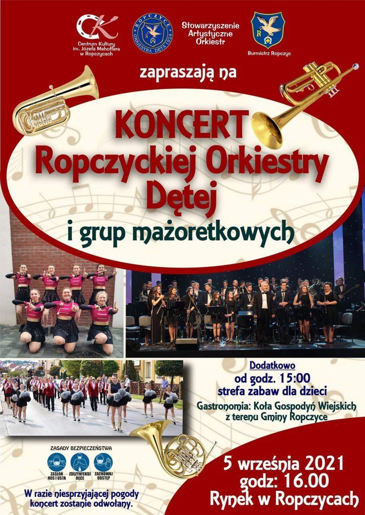 Koncert Ropczyckiej Orkiestry Dętej na ropczyckim Rynku